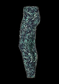 Patterned Long Yoga Legging Green Mangrove