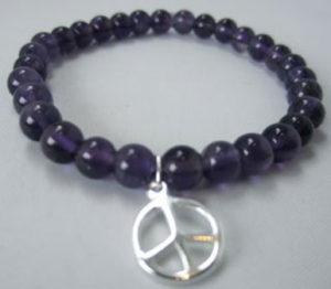 Amethyst Peace Bracelet