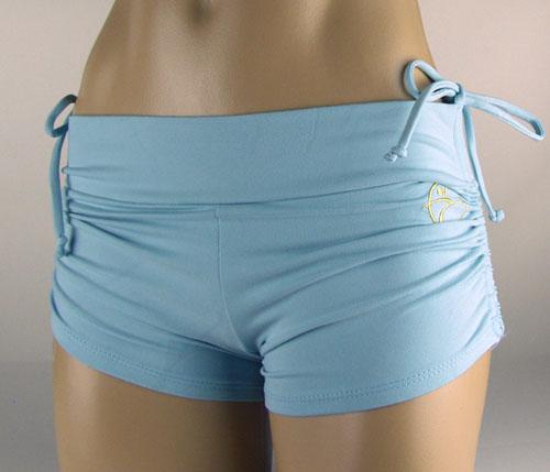 Shorts In Turquoise For Bikram Yoga: Bikram Yoga Clothing Brands