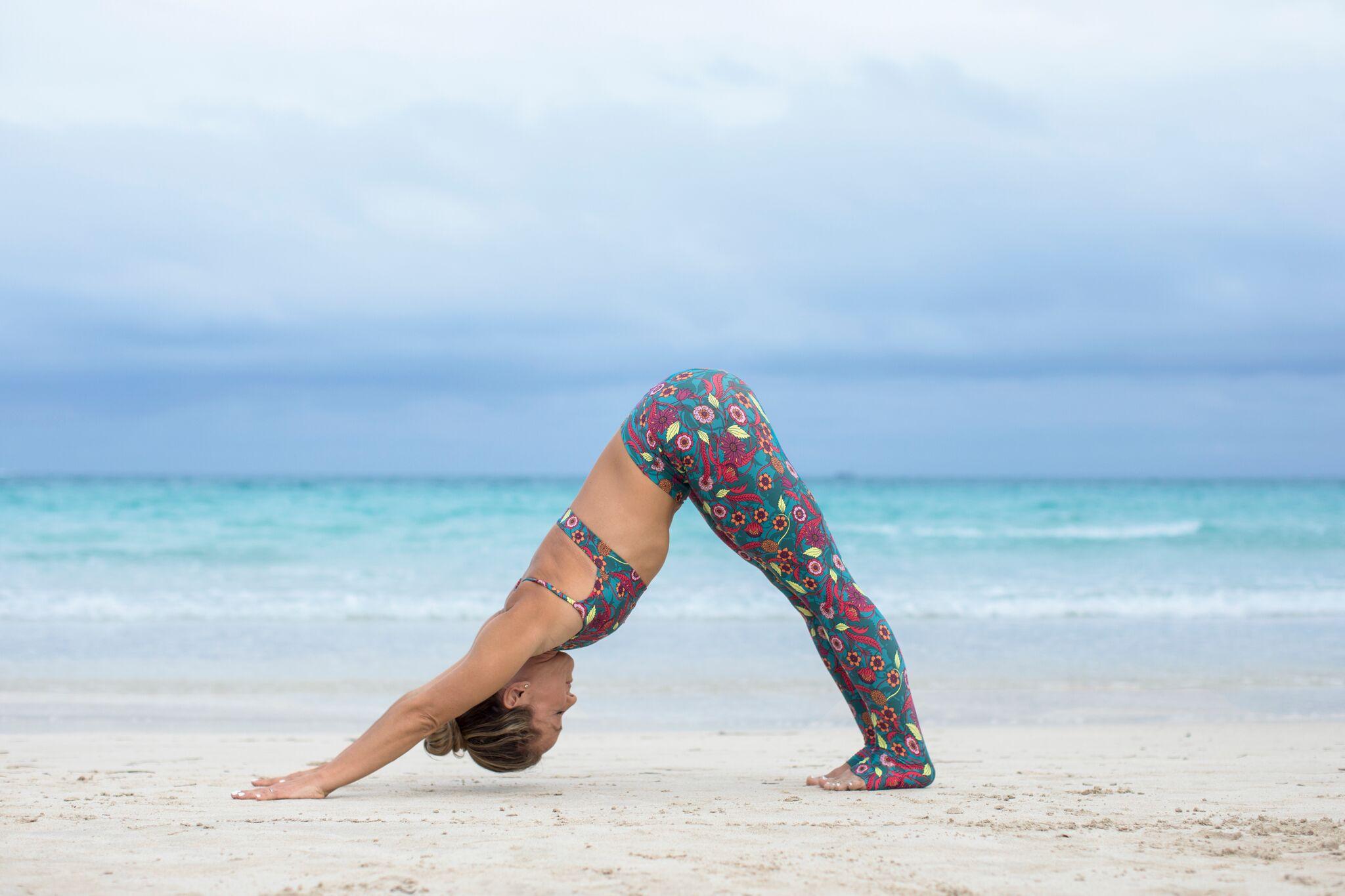 Kino Practicing Yoga